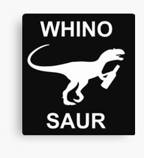Whinosaur Popular Funny Wine Lover Dinosaur Humor Party Canvas Print