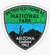 PETRIFIED FOREST NATIONAL PARK ARIZONA MOUNTAINS HIKING CAMPING HIKE CAMP 1962 NATURE Sticker