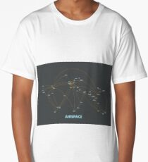 Airspace: Air route map and airport hub Long T-Shirt