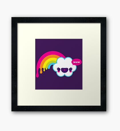 Wow Rainbow Framed Print