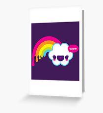 Wow Regenbogen Grußkarte