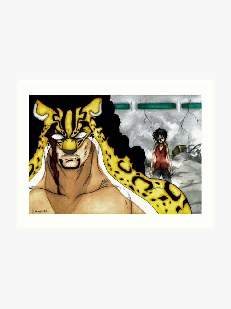 Luffy vs Rob Lucci | Art Print