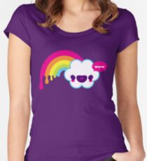 Wow Rainbow Women's Fitted Scoop T-Shirt