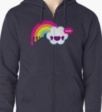 Wow Rainbow Zipped Hoodie