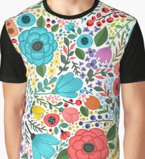 Colorful floral Graphic T-Shirt