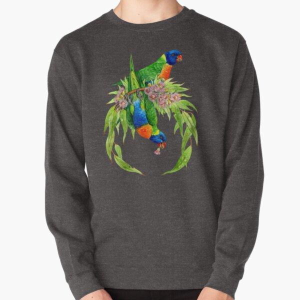 Rainbow Lorikeets Pullover Sweatshirt