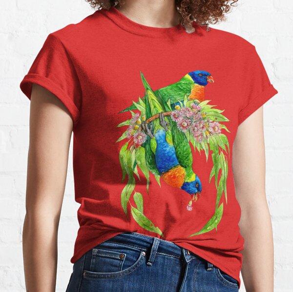 Loriquets arc-en-ciel T-shirt classique
