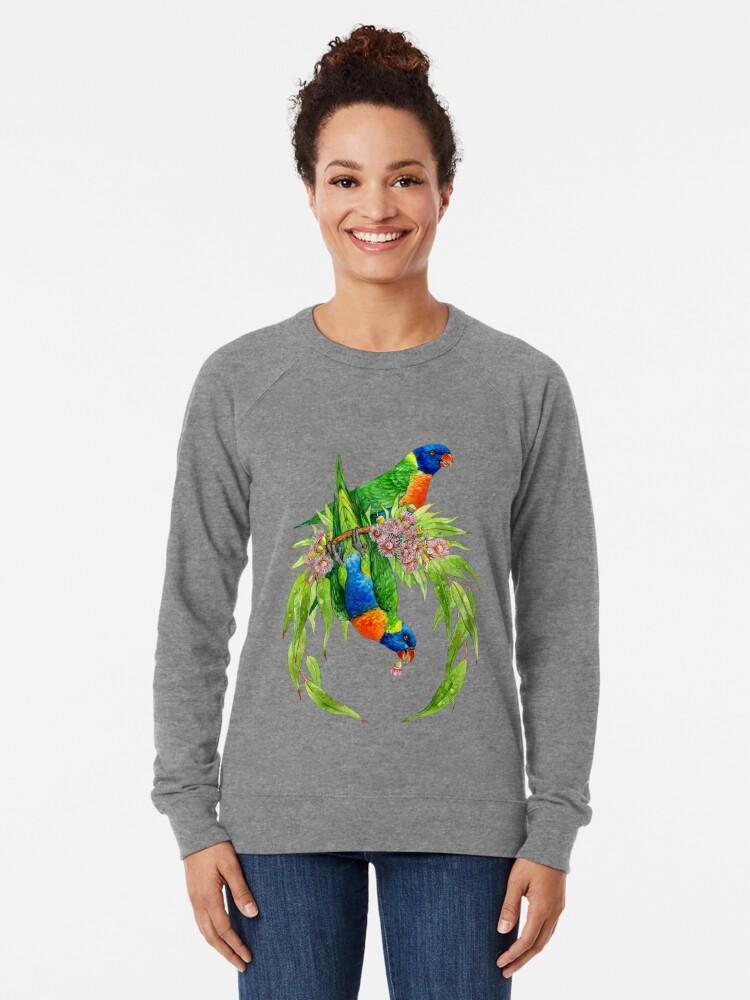 Alternative Ansicht von Regenbogen Lorikeets Leichter Pullover