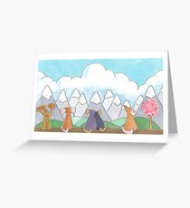 A Mousy Day Out Greeting Card