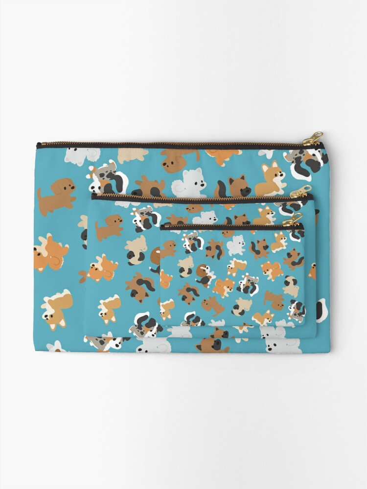 Alternate view of Chibi Puppers Zipper Pouch