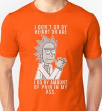 Rick - Pain in my ass (Black and white) Unisex T-Shirt