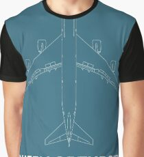 Queen of the Sky Boeing 747 Graphic T-Shirt