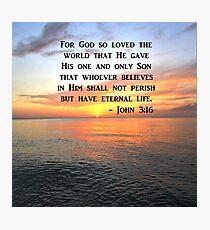 BREATHTAKING JOHN 3:16 SUNRISE SCRIPTURE Photographic Print