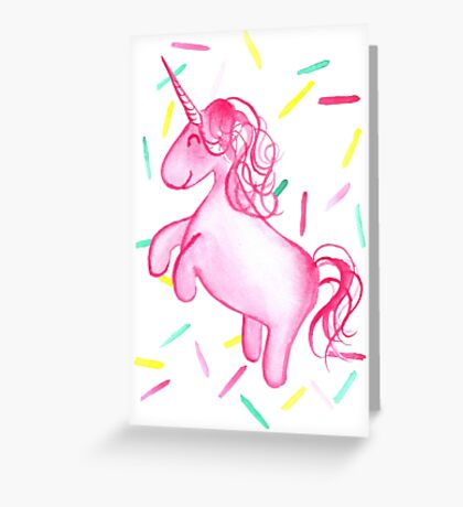 Ponicorn (Pink) - By Merrin Dorothy Greeting Card
