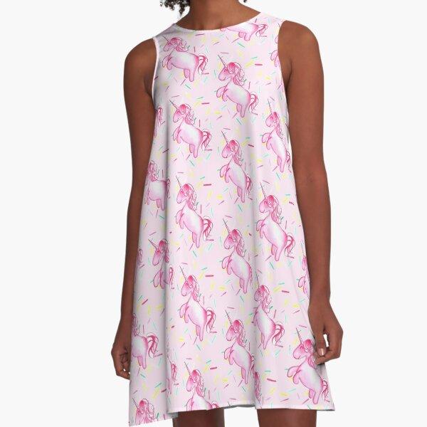 Ponicorn (Pink) - By Merrin Dorothy A-Line Dress