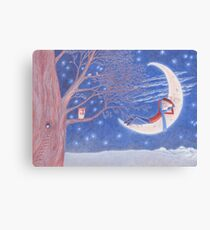 dreaming amongst stars and owls Canvas Print