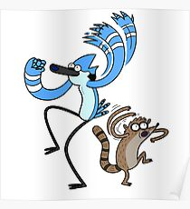 Regular Show Mordecai and Rigby Poster