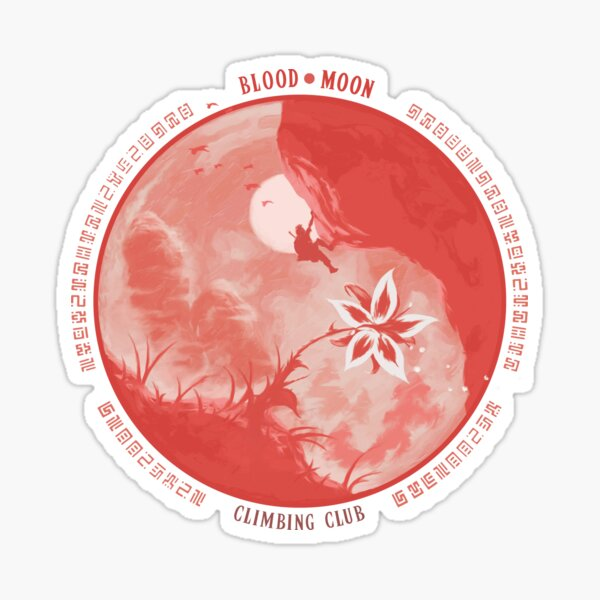 BloodMoon Climbing Club Sticker
