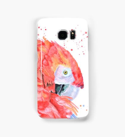 Loro Rojo Samsung Galaxy Case/Skin