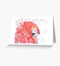 Loro Rojo Greeting Card