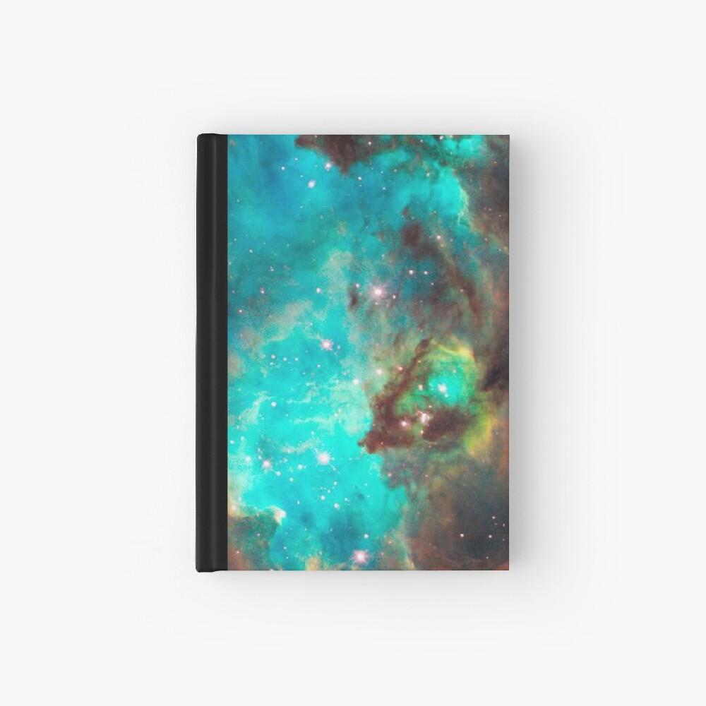 Green Galaxy Hardcover Journal