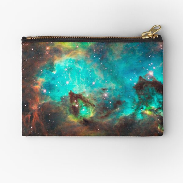 Green Galaxy Zipper Pouch