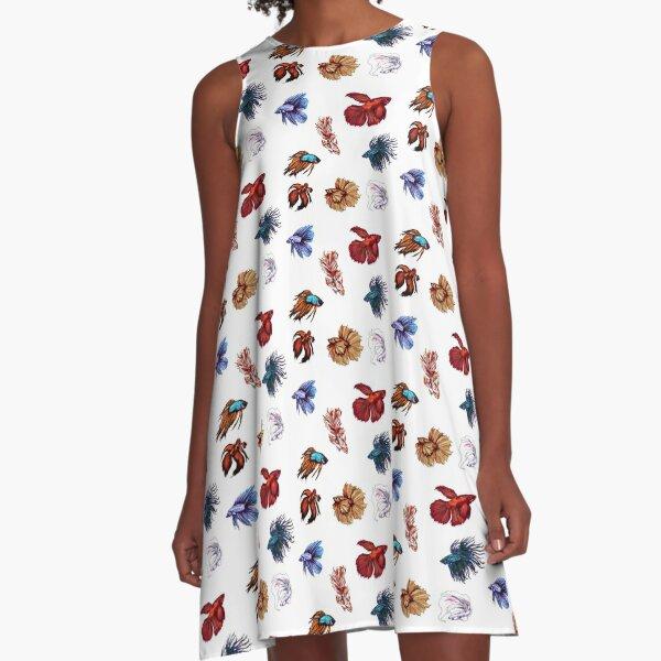 Betta fishes A-Line Dress