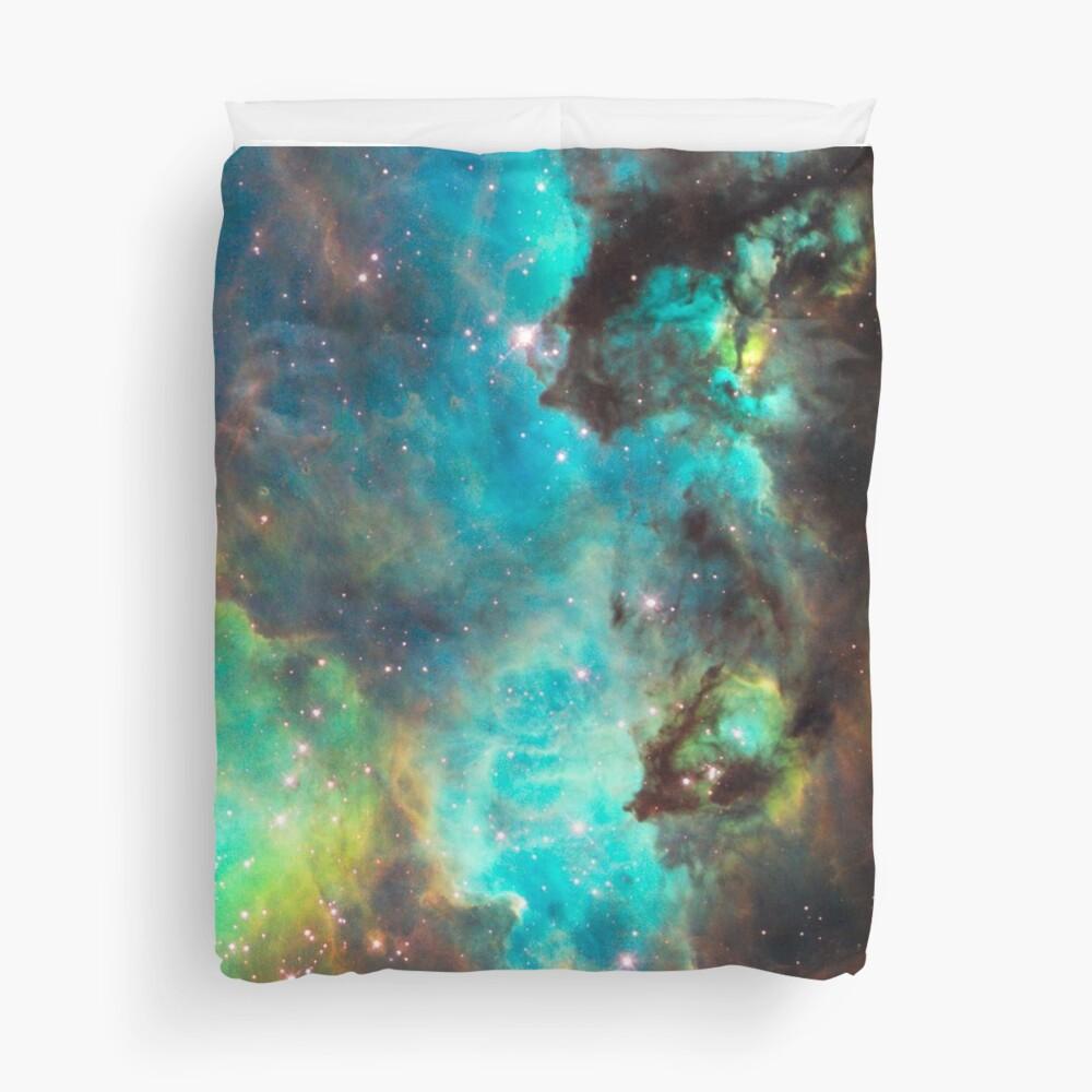 Green Galaxy Duvet Cover