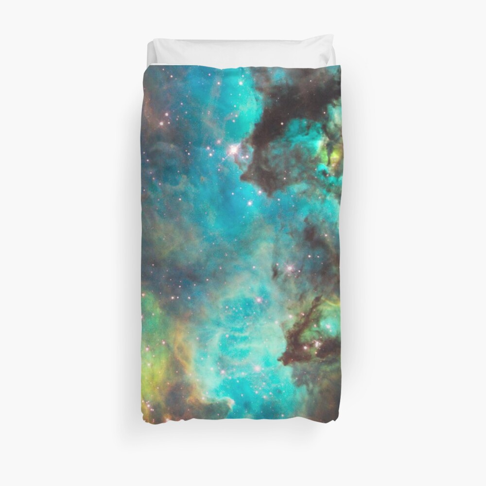 Green Galaxy Duvet Cover