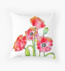 Poppies - By Merrin Dorothy Throw Pillow