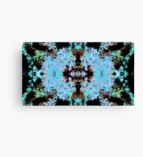 Floral Geo Pattern (Kaleidoscope Dreams) Canvas Print