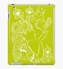 Ink girl with whimsical creatures iPad Case/Skin
