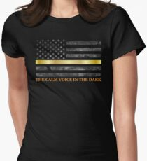 Thin Gold Line - Thin Yellow Line - 911 Dispatchers Womens Fitted T-Shirt