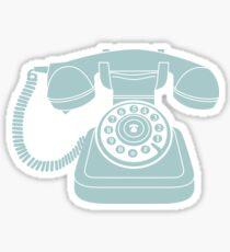 Retro phone Blue Sticker