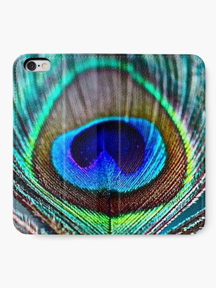 Alternate view of Peacock Feather iPhone Wallet