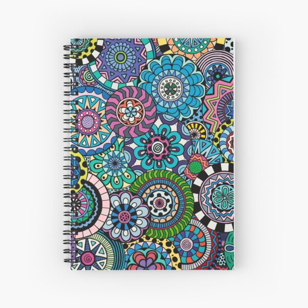 Many Mandalas Spiral Notebook