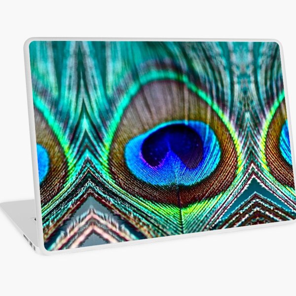 Peacock Feather Laptop Skin