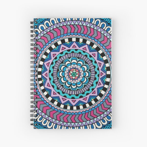Purple Mandala Spiral Notebook