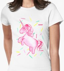 Ponicorn (Pink) by Merrin Dorothy Womens Fitted T-Shirt
