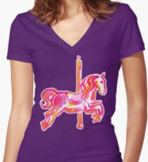 Merri-Go-Round - By Merrin Dorothy Women's Fitted V-Neck T-Shirt