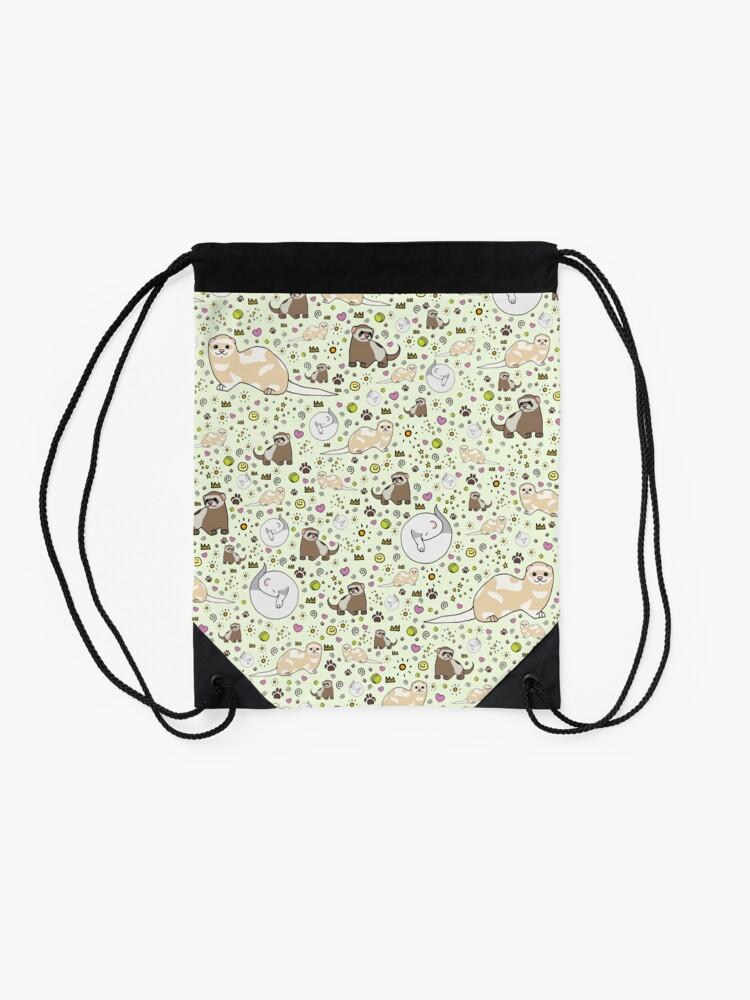 Alternate view of Ferret Magic Drawstring Bag