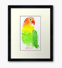 Who's A Pretty Birdy? - By Merrin Dorothy Framed Print