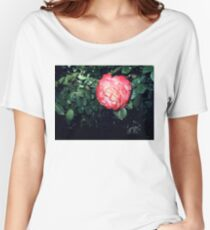 red/white rose, dark 04/25/17 Women's Relaxed Fit T-Shirt