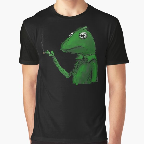 Kermit the Frog Smoking Graphic T-Shirt