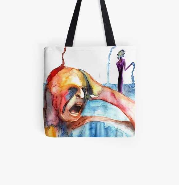 Happiness and Self-destruction All Over Print Tote Bag