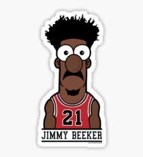 JIMMY BEEKER BULLS FAN T SHIRT  Sticker
