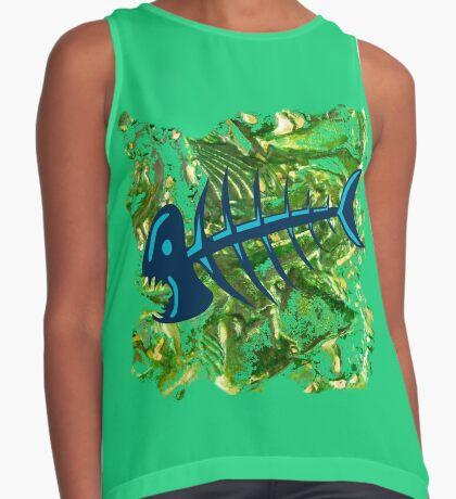 FISH SKELETON SWIRLING SEAS Contrast Tank