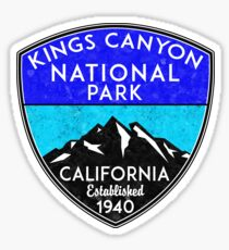 KINGS CANYON NATIONAL PARK CALIFORNIA MOUNTAINS HIKE HIKING CAMP CAMPING NATURE 2 Sticker