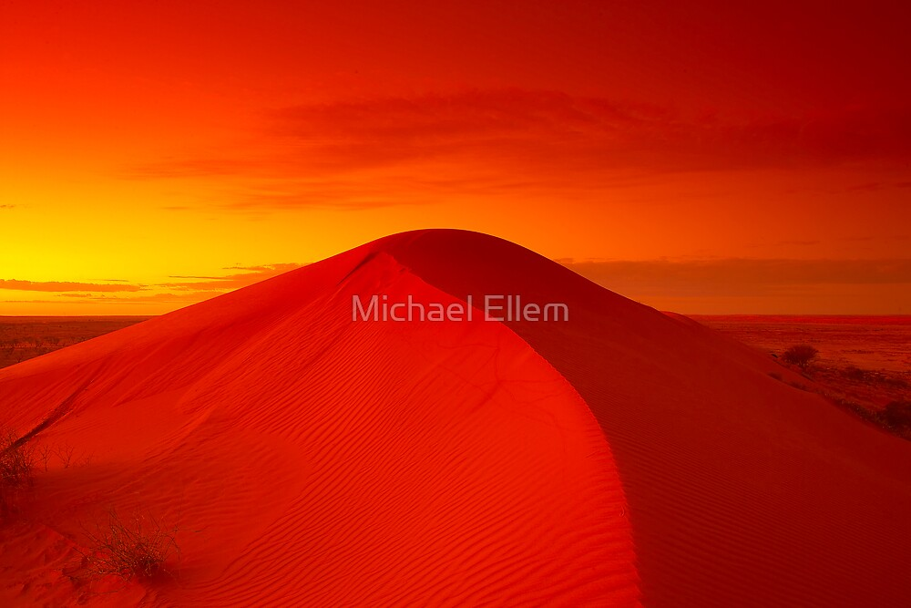 Dawn on Big Red - Simpson Desert by Michael Ellem