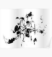 """Without Doubt"" Couple in love - ink drawing Poster"